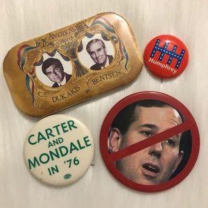 Vintage Democrat Pins